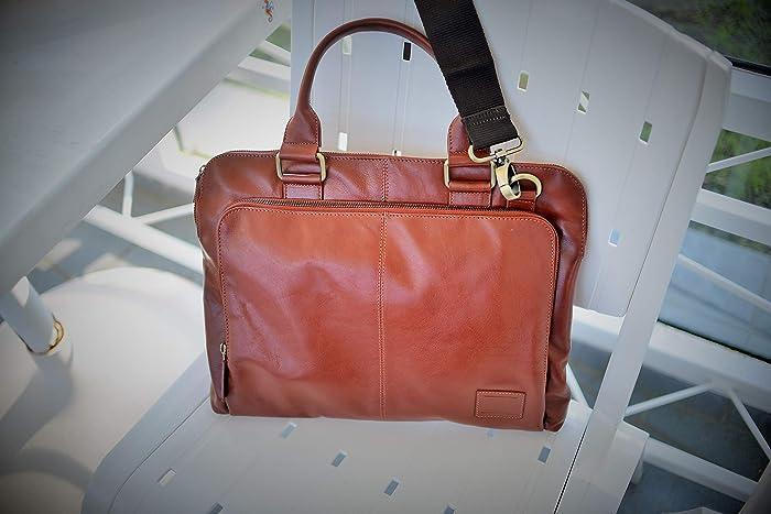 d9f915a0a7ea Amazon.com: 13 Inch Handmade Vegetable Tan Leather Satchel/Leather ...