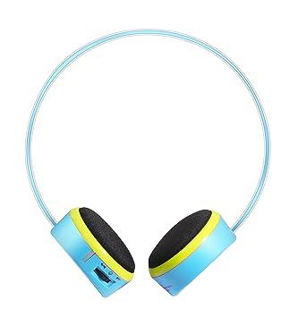 Polaroid pbt205bl Bluetooth auriculares para niños, especialmente diseñado para ser la más ligero inalámbrico auriculares