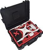 Professioneller Koffer - Transportkoffer passend für DJI Phantom 4 und DJI Phantom 4 Pro mit viel Platz für 6 Akkus und Zubehör - von MC-CASES - Made in Germany - Outdoor Koffer - IP67 Wasserdicht - Automatisches Druckausgleichsventil