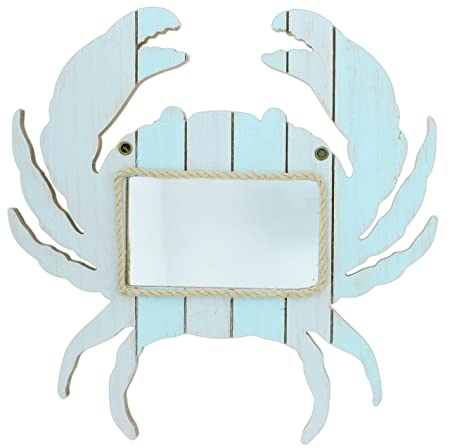 Mayrich 15 Blue Wood Crab Mirror