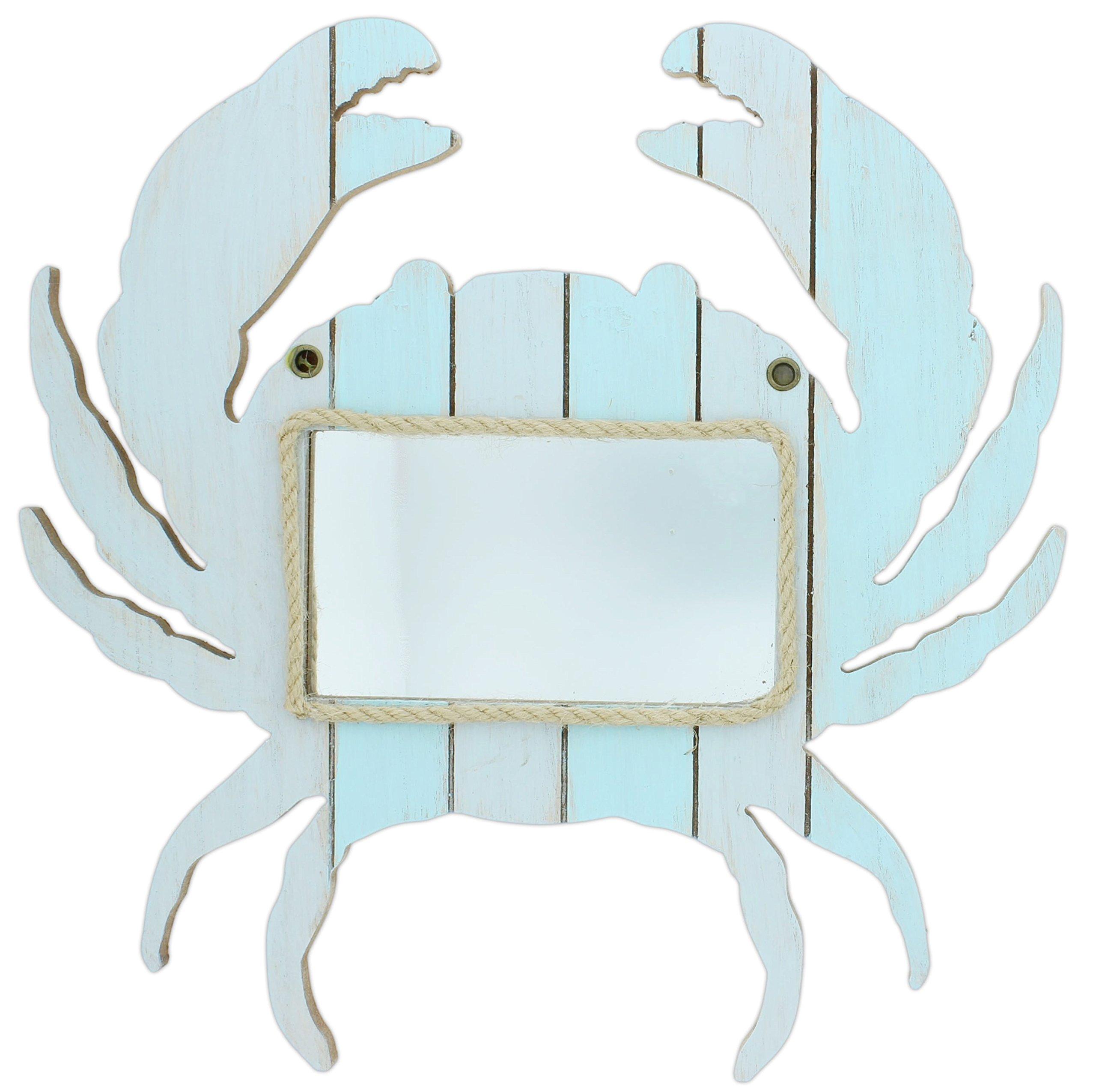 Mayrich 15'' Blue Wood Crab Mirror