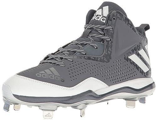 30ab605df781 Adidas Men's Freak X Carbon Mid Baseball Shoe, Onix/White/Metallic/Silver