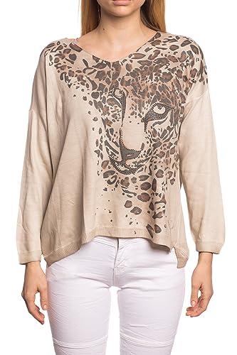 Abbino 12762 Camisas Blusas Tops para Mujeres - Hecho en ITALIA - 6 Colores - Entretiempo Primavera ...