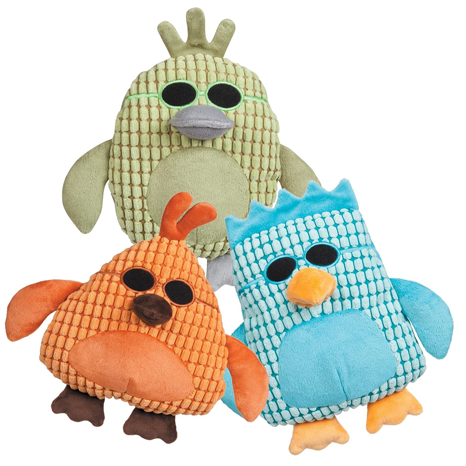 Grriggles Corduroy Cool Dudes Dog Toys 54 Piece Refill Multi Style