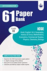 61 Paper Bank : ICSE Class 9 for 2019 Examination (Model Specimen Papers) Kindle Edition