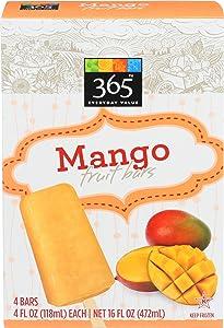365 Everyday Value, Mango Fruit Bars, 4 fl oz, 4 ct, (Frozen)