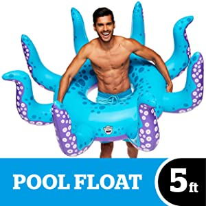 BigMouth Inc. Giant XL Pool Floats, Funny Inflatable Vinyl Summer Pool or Beach Toy, Patch Kit Included (XL Octopus)