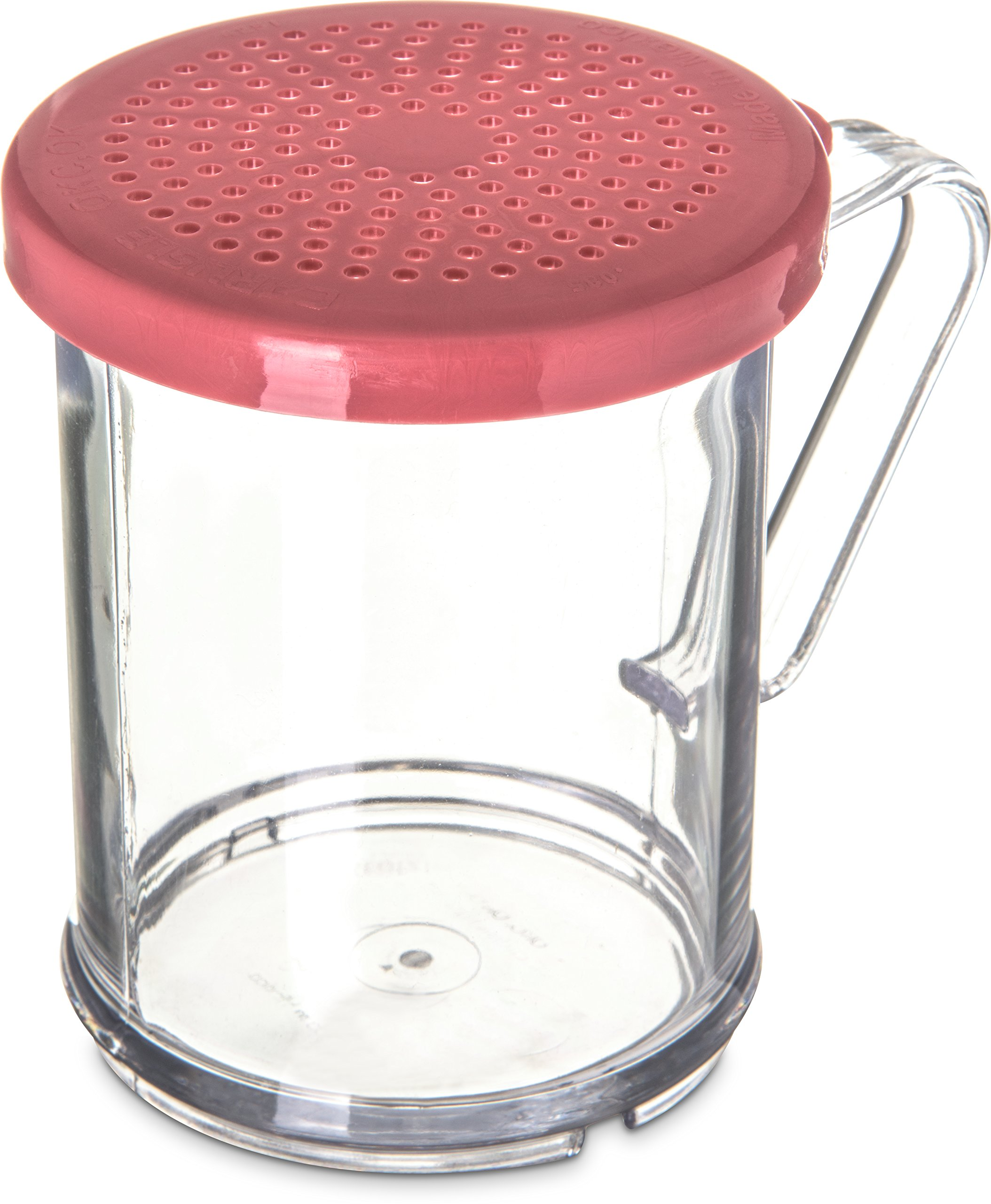 Carlisle 425055 Polycarbonate Shaker/Dredge with Medium Ground Lid, 1 Cup Capacity, Rose (Case of 12)