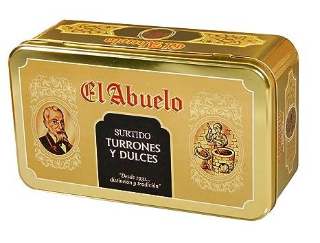 Lote de Turrones artesanos en Estuche Dorado metálico (nº 4 ...