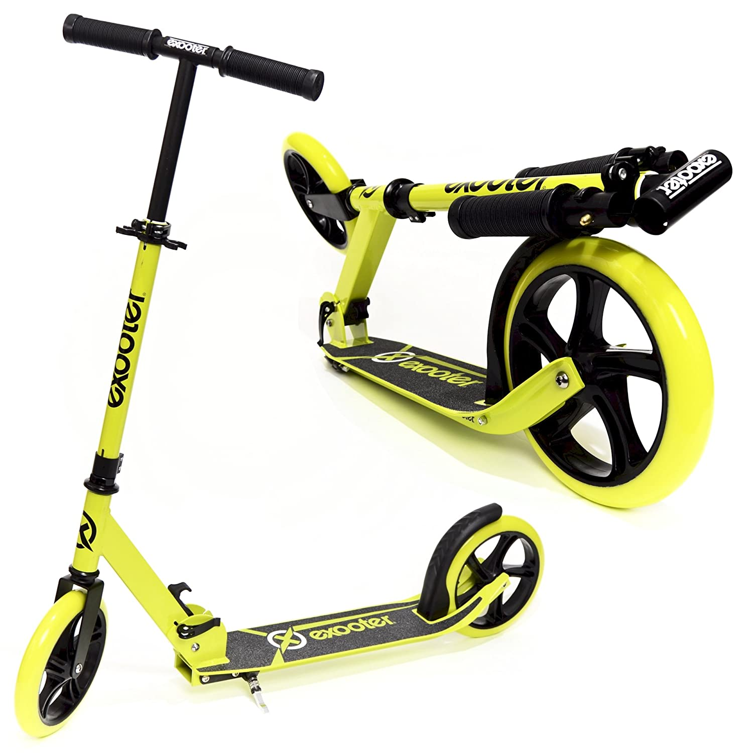 EXOOTER M1450 5XL Teen Cruiser Kick Scooter With 200mm Wheels And Kick Stand