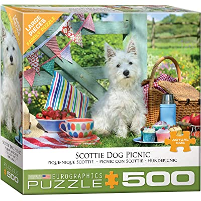 EuroGraphics 8500-5461 Scottie Dog Picnic 500Piece Puzzle: Toys & Games