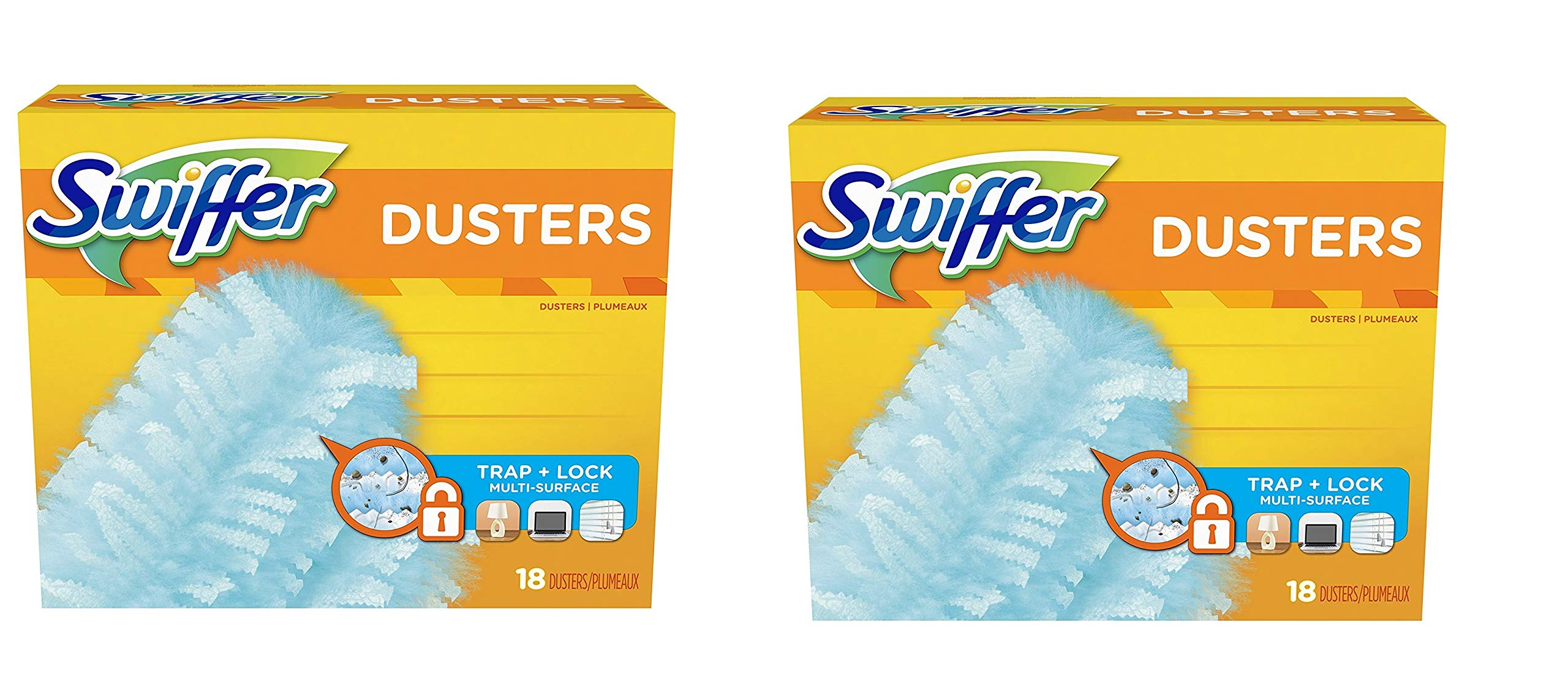 Swiffer 180 Dusters, Multi Surface Refills, Unscented Scent, 18 Count, 2-Pack