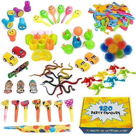 120 Juguetes de Fiestas a Granel - Surtido enorme - Perfecto para los regalos - Piñatas - Premios de Carnaval - Recompensas de la Clase - Rellenos de ...