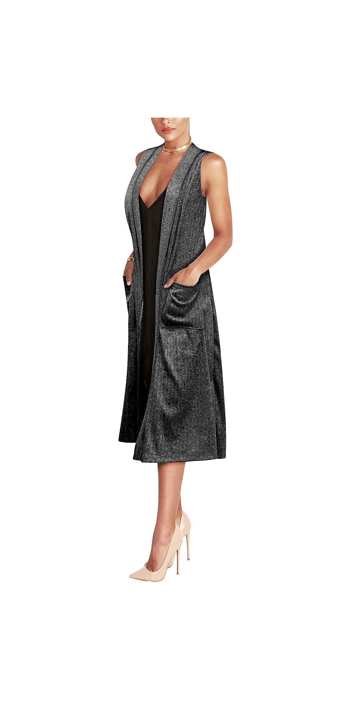 Womens Casual Sleeveless/short Sleeve Open