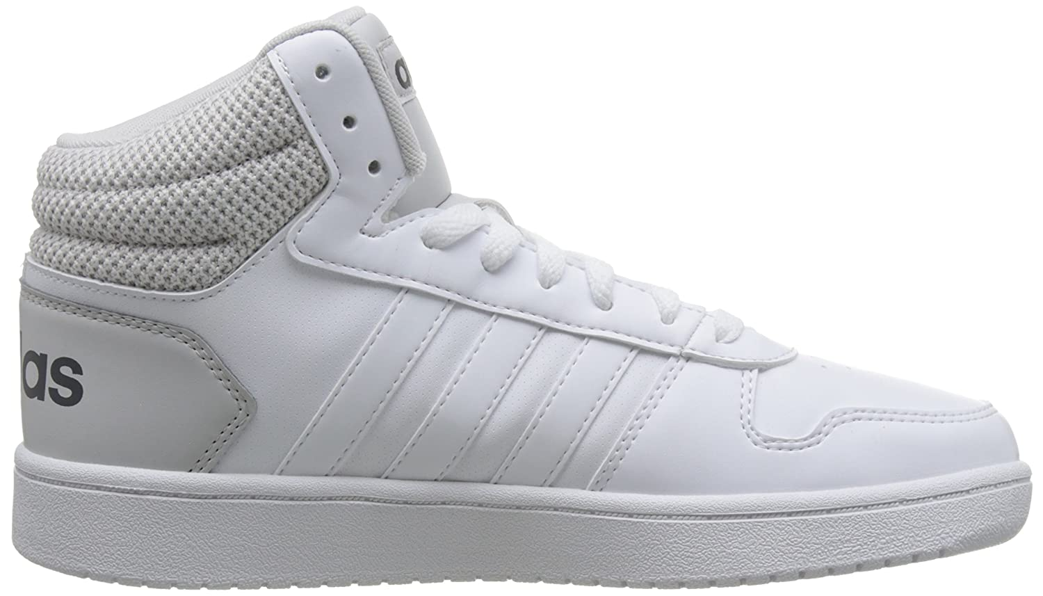 8ec5d06ec274 Adidas Men s Hoops 2.0 Mid Ftwwht Ftwwht Greone Basketball Shoes - 11  UK India (46 1 9 EU)(DB0106)  Buy Online at Low Prices in India - Amazon.in