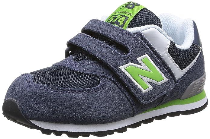 New Balance NBKG574YSP - Zapatos para Hombre, Color Navy/Green Suede/Mesh, Talla 32