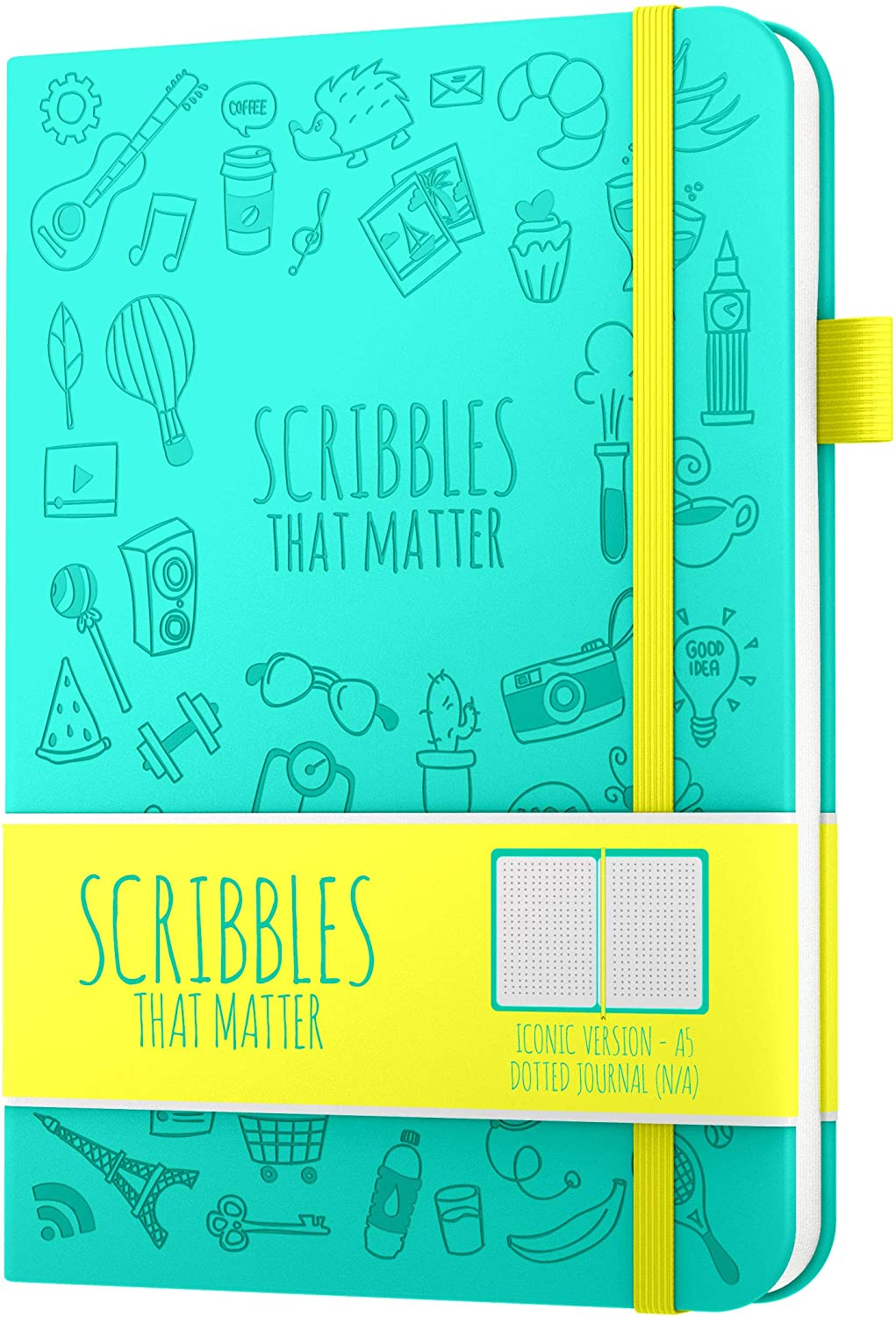 A5 Dotted Journal by Scribbles That Matter - Bullet Dot Grid Notebook