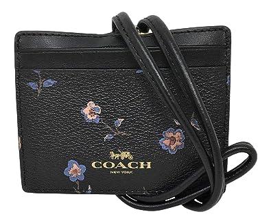 8e23fe02cee2 (コーチ) COACH レディース F57095 ランヤード ス レザー ID パス カードケース 花柄 定期