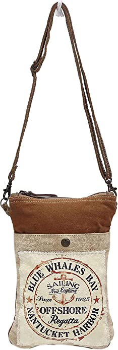 Myra Bags Sailing Anchor Upcycled Canvas Crossbody Bag S 1040 Handbags Amazon Com About 9% of these are mailing bags, 0% are biodegradable packaging. myra bags sailing anchor upcycled canvas crossbody bag s 1040