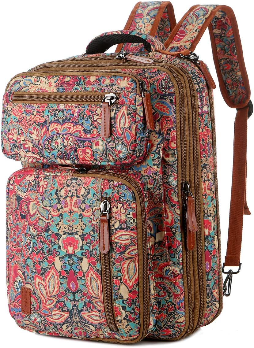 BAOSHA Convertible Backpack 15.6 Inch Laptop Bag Case Travel Briefcase Casual School college Backpack for Women BC-04 (HS)