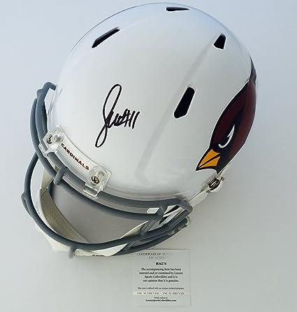 c1b944405ff Cardinals Larry Fitzgerald Signed Full Size Riddell Helmet LSC Authentic COA