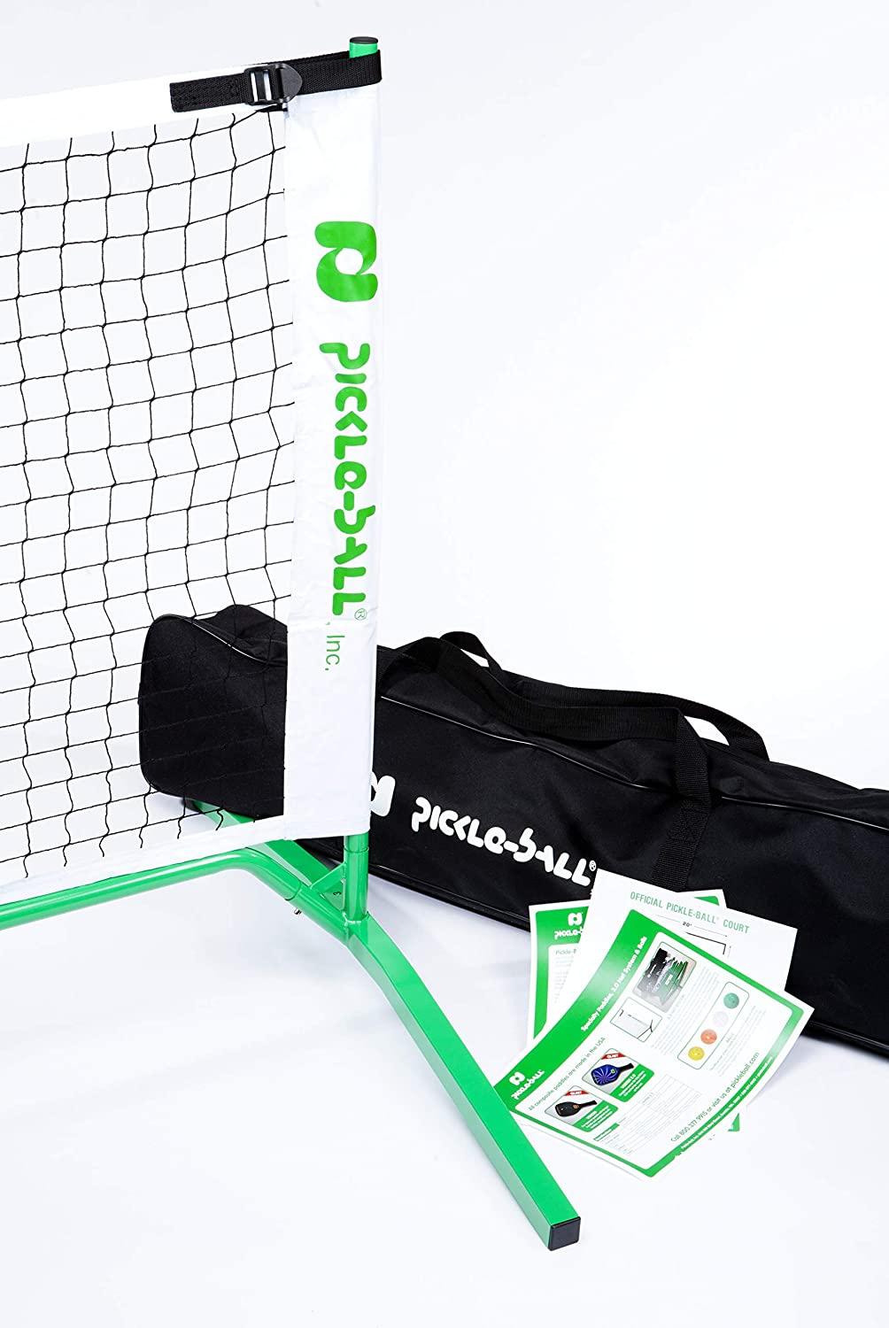 3 0 Portable Pickleball Net System Set Includes Metal Frame And Net In Carry Bag Durable And Easy To Assemble Sporting Goods Sports Outdoors