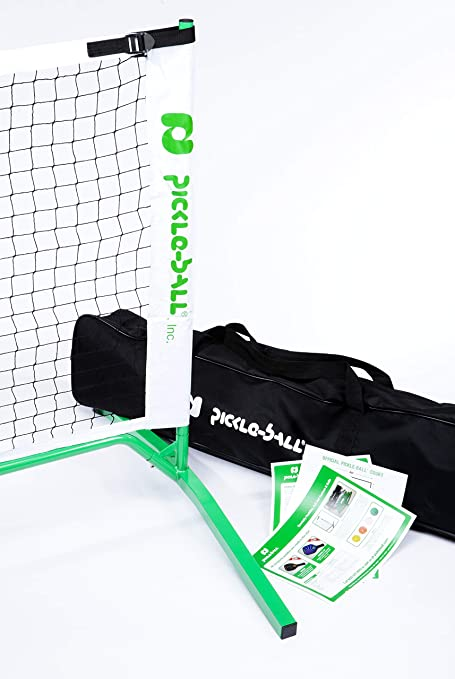 ac53423916c6e Amazon.com   3.0 Portable Pickleball Net System (Set Includes Metal Frame  and Net in Carry Bag)