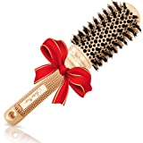 "Blowout Round Hair Brush (1.7"" Medium Barrel) with Boar Bristles for Blow Drying, Straightening, Styling Shoulder Length…"