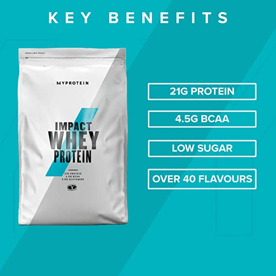 Myprotein Impact Whey Protein, Sabor Chocolate Blanco, 1000g, 1 Unidad