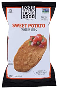 Food Should Taste Good, Tortilla Chips, Sweet Potato, Gluten Free Chips, 5.5 oz