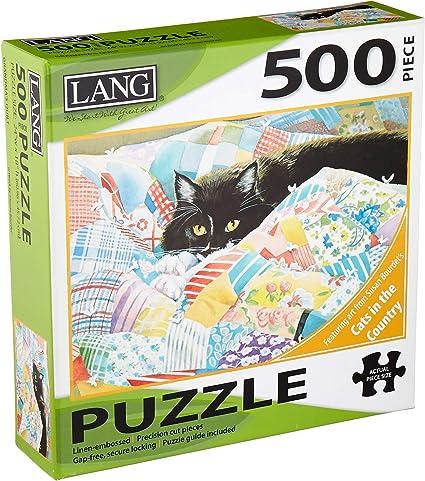 LANG - 500 Piece Puzzle - Grandmas Quilt, Artwork by Susan Bourdet