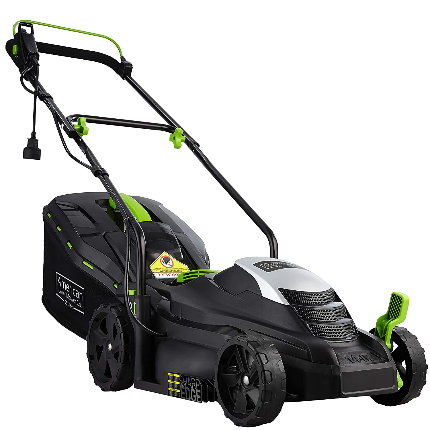 Stand Behind Lawn Mower >> American Lawn Mower Company 50514 14 Inch 11 Amp Corded Electric Lawn Mower Black