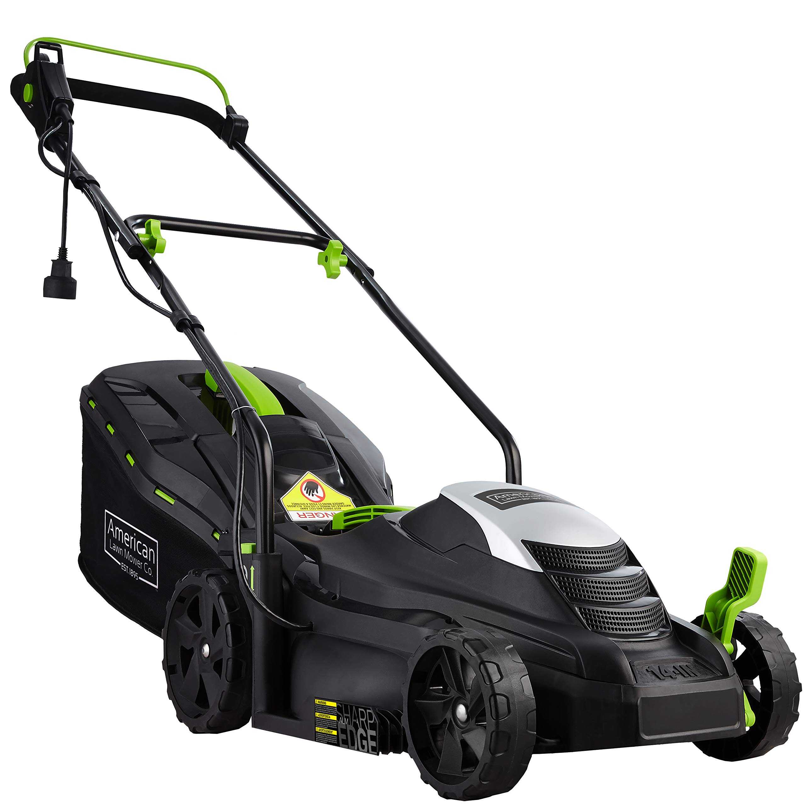 American Lawn Mower Company 50514 14-Inch 11-Amp Corded Electric Lawn Mower, Black by American Lawn Mower Company