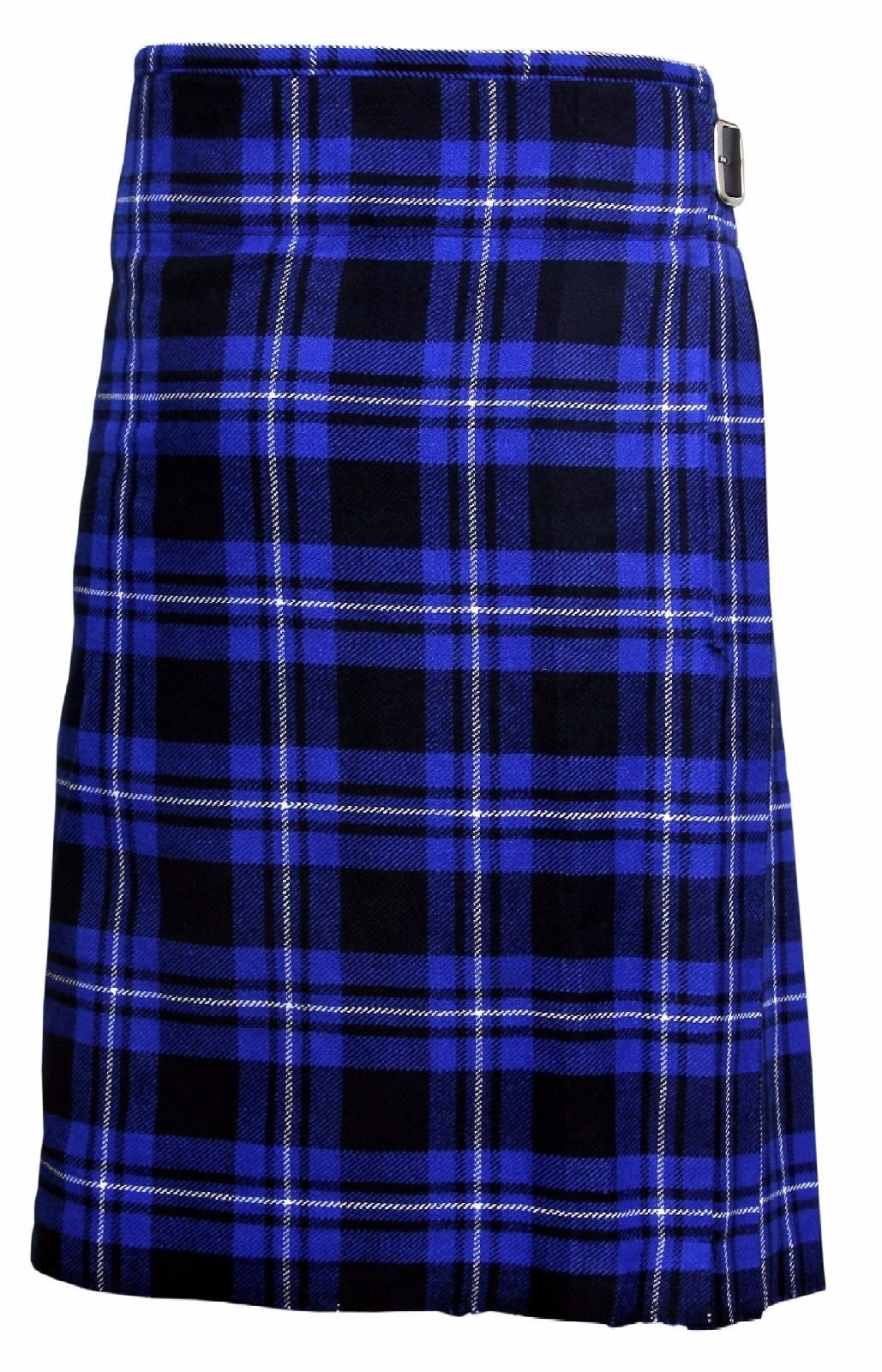 Blue Tartan Men's 5 Yard Scottish Kilts Tartan Kilt 13oz Highland Casual Kilt (40'')
