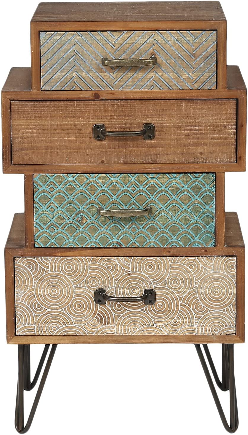Editors' Choice: Winsome House Chic Four Drawer Cabinet End Table