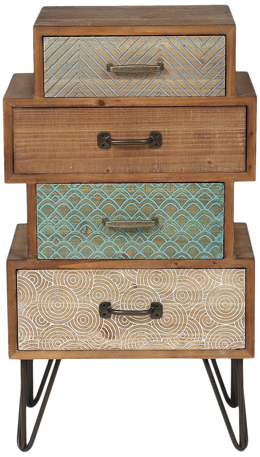 Winsome House Chic Four Drawer Cabinet End Table