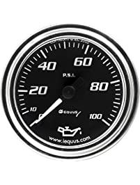 Equus 7244 Oil Pressure Gauge - Black