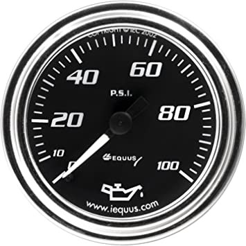 Equus 7242 2 Mechanical Water Temperature Gauge Chrome with Black Dial