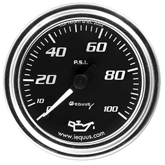 Equus 8244 2 Mechanical Oil Pressure Gauge White With Aluminum