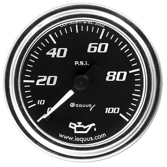 Amazon Com Equus 7244 2 Mechanical Oil Pressure Gauge Chrome With