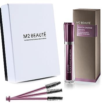 2f956c1d7fc M2Beaute Mascara - 3 LOOKS BLACK NANO MASCARA & M2Beaute Gift Box,ONE  MASCARA,