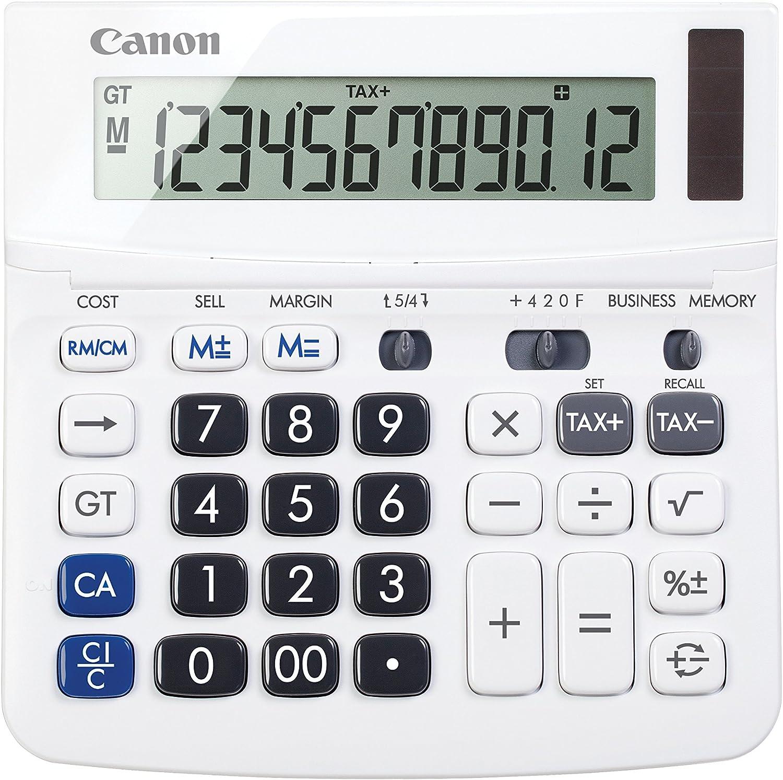 "Canon TX-220TSII Standard Function Calculator, White, 1.2"" x 5.7"" x 5.7"""