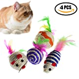 Cat Toys Mice - Funny Pet Toy Mouse Non-toxic Kitty Playing Scratching
