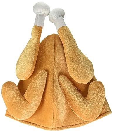 Amazon.com  Forum Novelties Roasted Turkey Hat for Adults - One Size   Clothing 326527d6178c