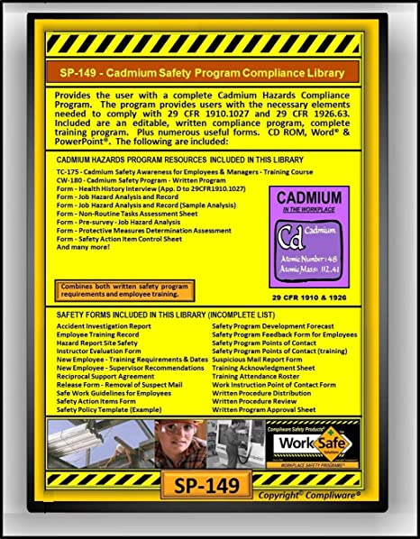 AmazonCom Sp  Cadmium Hazards Safety Compliance Library