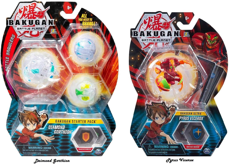 BAKUGAN - Paquete de 3 Piezas Diamond Gorthion Plus Ultra Pyrus ...
