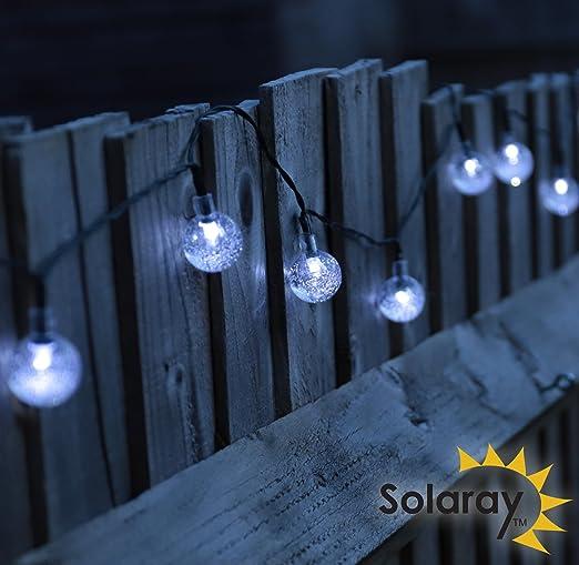 Solaray - Guirnalda de luz LED (30 globos de burbuja): Amazon.es: Iluminación