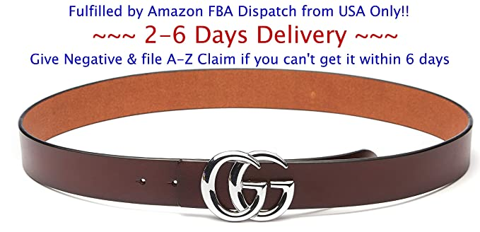 0c64265bdf132 (2-7 Days Fast USA Deliver Guarantee Fulfilled by Amazon) Silver Buckle  Style