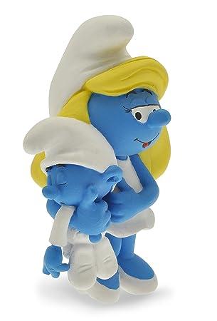 Plastoy 00- Figura de Pitufina con su bebé - Pitufos - Figura - Pitufina con Bebe Limitada Resina, Figura Cine y TV