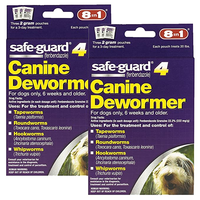 Amazon.com : Excel 8in1 Safe-Guard Canine Dewormer for Large Dogs, 3 Day  Treatment : Pet Wormers : Pet Supplies